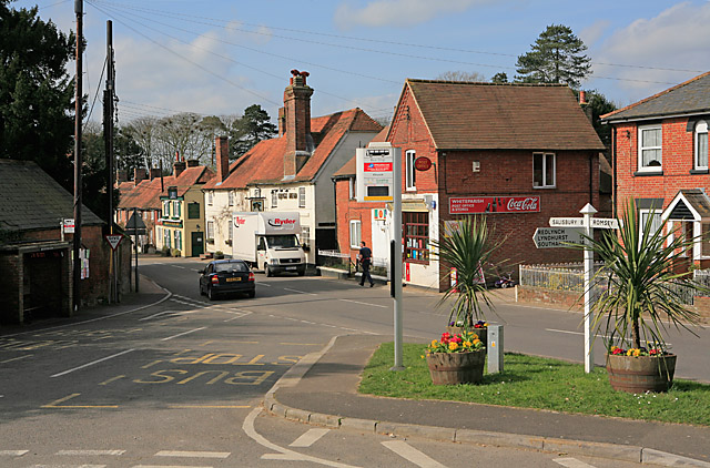 The centre of Whiteparish, looking along The Street