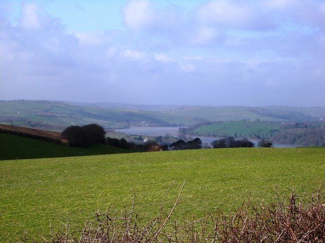 View up River Dart vicinity of Stoke Gabriel from Kennels Road