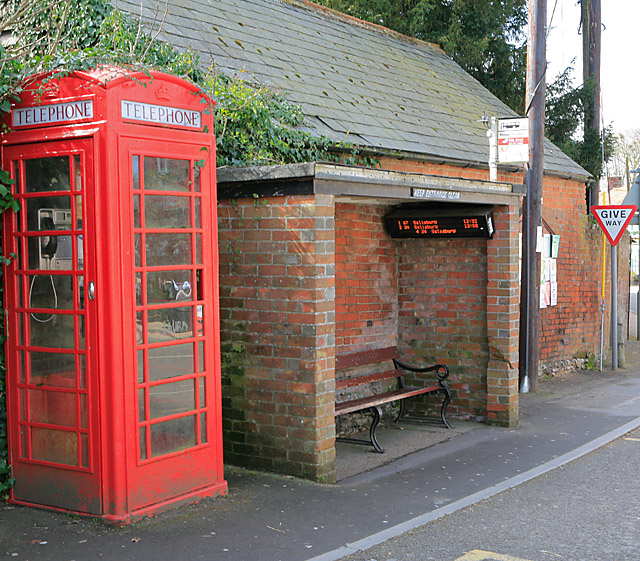 Ancient and Modern, bus shelter, Whiteparish