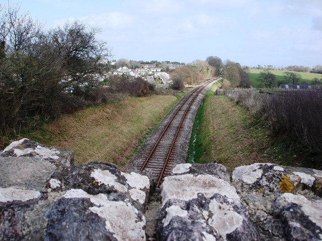 Torbay and Dartmouth Steam railway, looking towards Galmpton