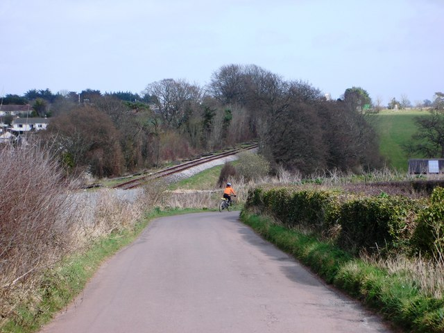 Railway Track near to Galmpton, with road alongside