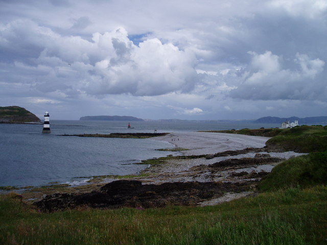 Lighthouse  and Pilot Houses at Penmon Point