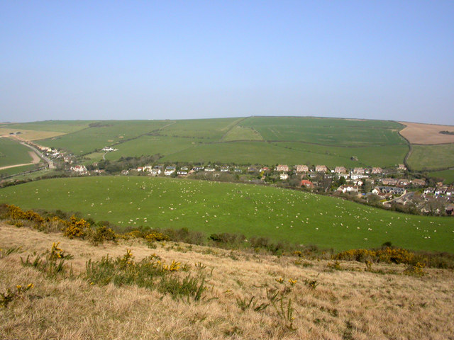 West Lulworth from Bindon Hill