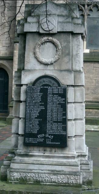 Mill Hill Unitarian - WW 2 War Memorial
