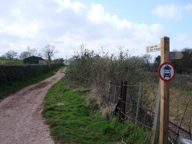 Footpath, Coombe Lane, near Galmpton