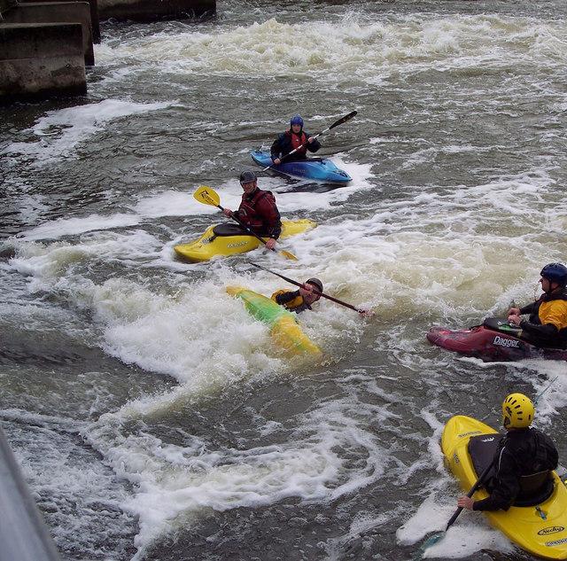 Fun at Abingdon Weir