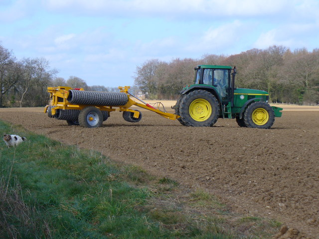 Preparing the Soil Near West Tisted Common
