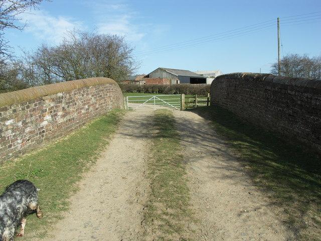 Bridge to Bosworth Mill Farm.
