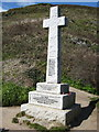 SX2150 : Polperro: war memorial at Downend Point by Brian
