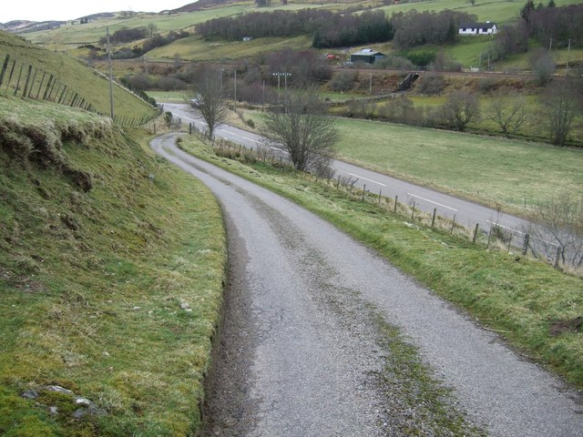 Driveway leading to Lairg road