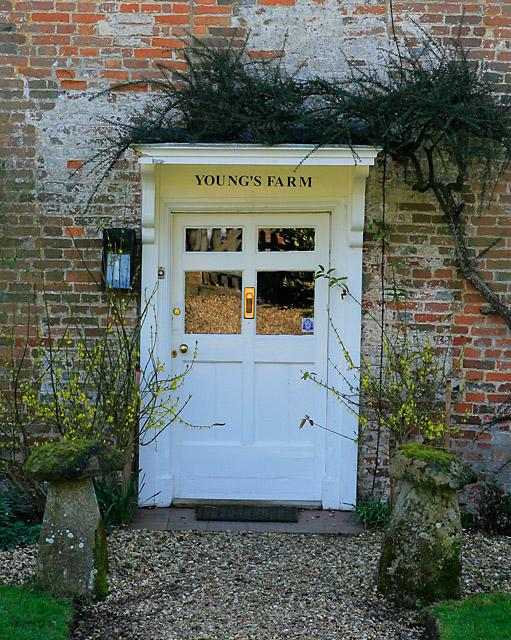 Front door of Young's Farm, The Street, Whiteparish