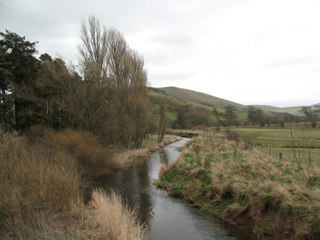 The Bowmont Water from Kilham Bridge