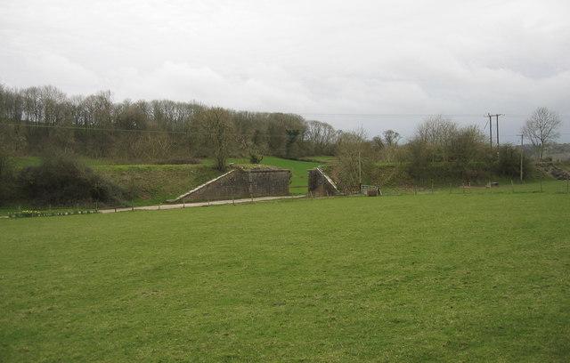 Dismantled railway line, near Cowbridge, South Wales
