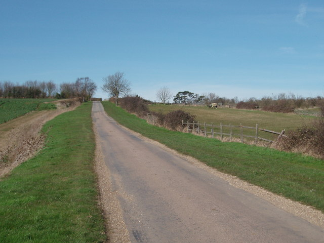 The lane to Roxhill Manor Farm