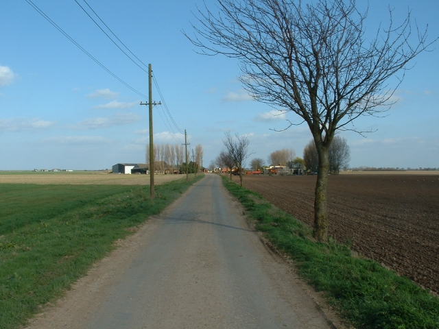 Farm road leading to Old Leam Farm