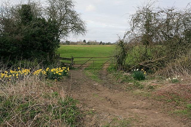 Footpath crosses Clay Street, Whiteparish
