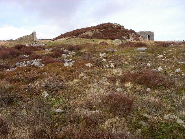 Rifle range on Gwaun Felen
