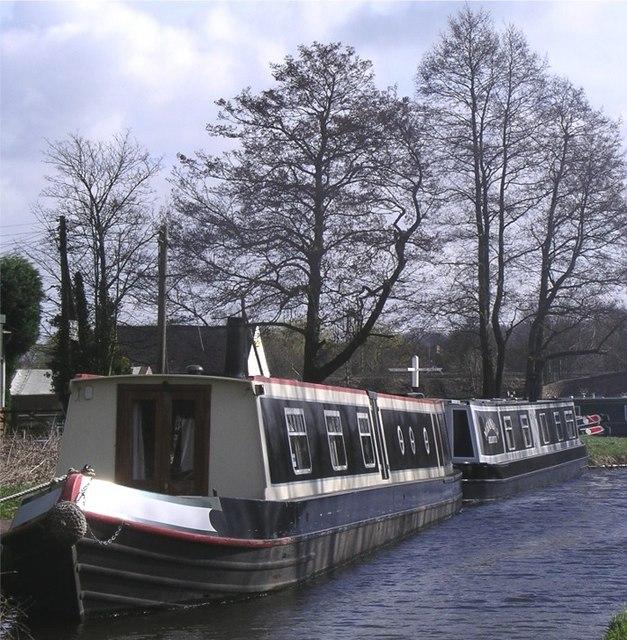 Narrowboats at Haywood Junction