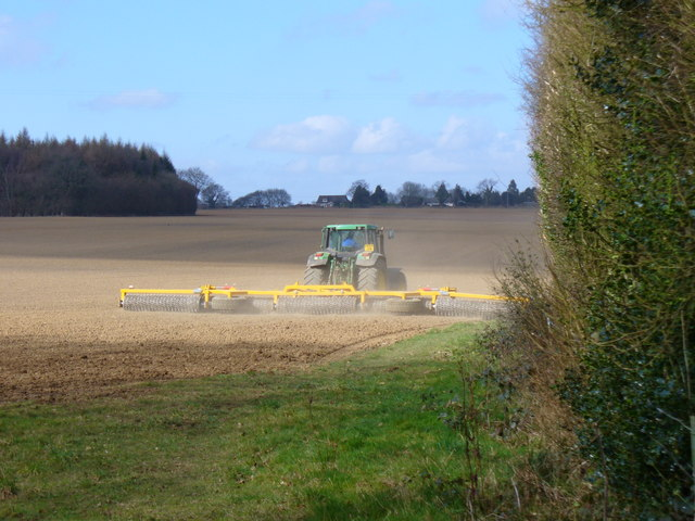 Preparing the Soil Near Brick Kiln Farm