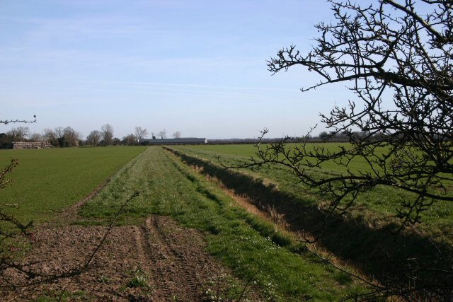 Farmland and ditch near Kenny Hill