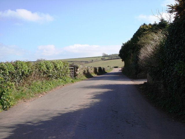 Road off Greenway Road which crosses the railway line