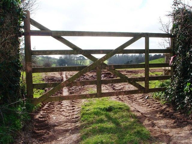 Farm gate, Hook Bottom, Greenway Road