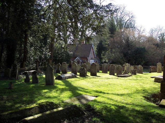 Gatehouse and churchyard, Wimborne St Giles
