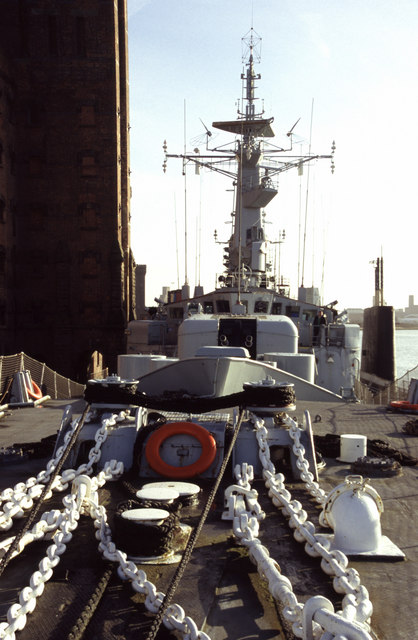 HMS Plymouth, East Float, Wallasey Docks