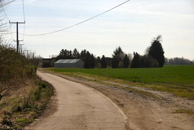 Track to New Barns Farm, Undley