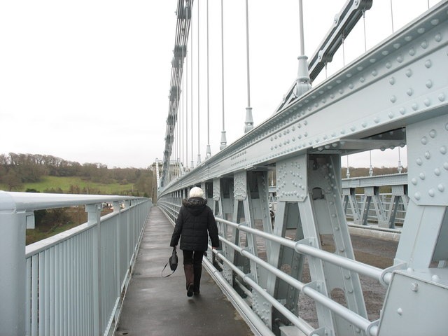 Pedestrian walkway on Pont y Borth (Pont Menai)
