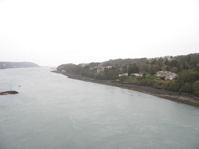 Afon Menai east of Pont y Borth