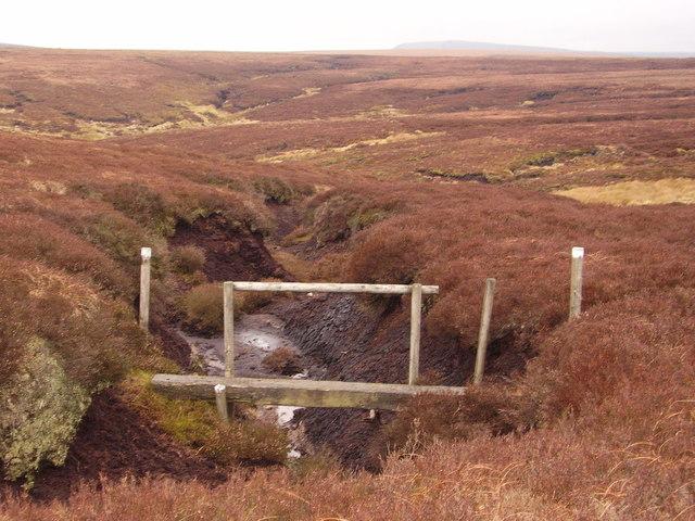 Footbridge on Alport Moor