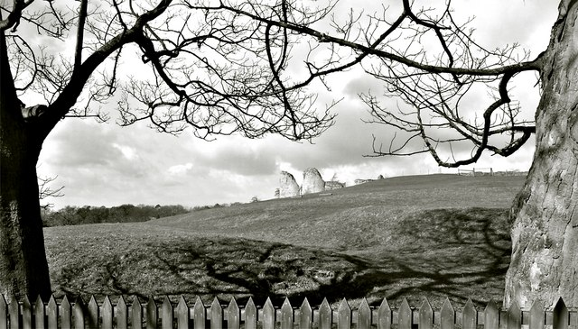 Black and White View of Chartley Castle