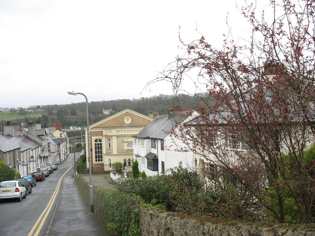 Stryd y Capel with the 'Welsh' Calvinistic Methodist Chapel
