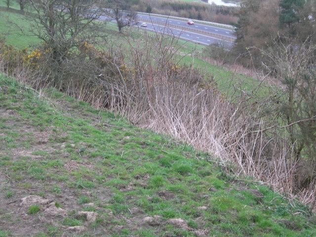 New A9 cutting through farmland next to River Earn