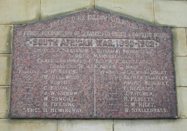 South African War Memorial, Farsley