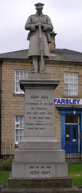 Farsley War Memorial - bottom of Town Street