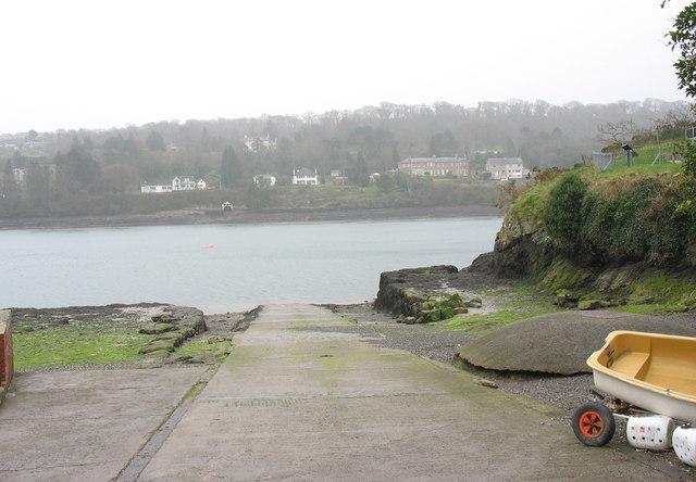 A slipway at Porth-y-wrach