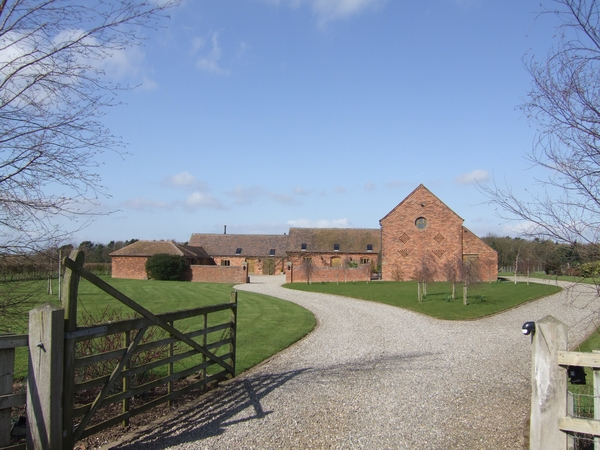 Converted farm buildings near Boscobel House