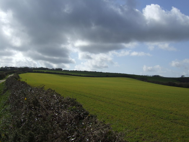 March field and sky