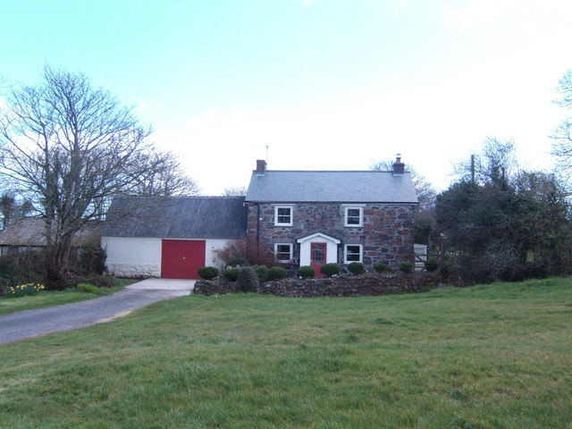 Typical Cornish stone cottage