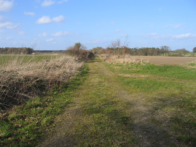 Dismantled railway line east of Cubits Farm