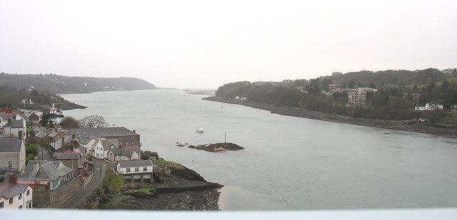 Afon Menai from Pont y Borth
