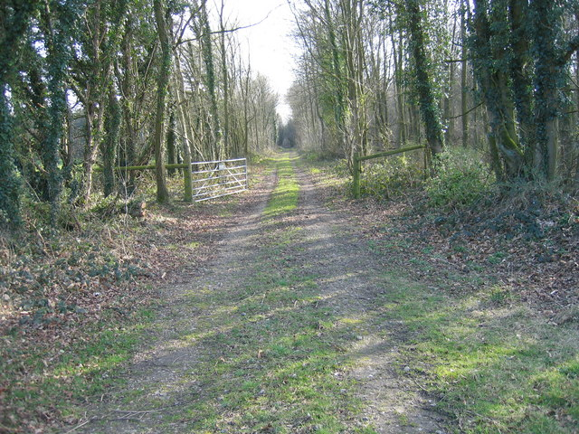 Dismantled railway line east of Cubits Farm