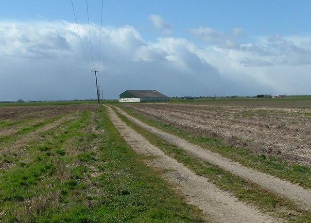 Barn in flat fields