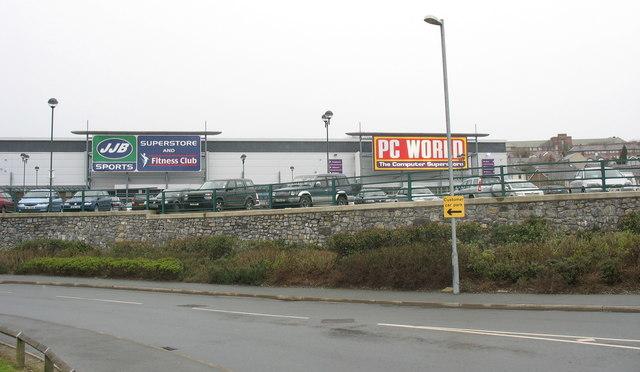 Shopping units at  the St David's Retail Park