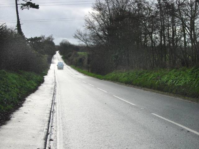 Looking SE along the New Dover Road, A2050