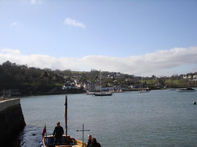 Ferry loading, Greenway Quay
