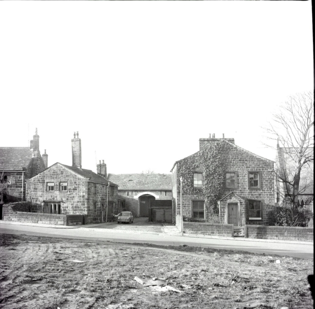 Cullingworth - Station Road - Houses next to the church