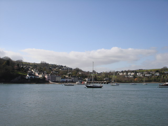 Dittisham  and pier from Greenway Quay
